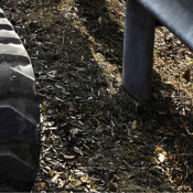 Free rubber track recycling