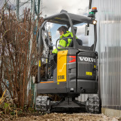 Volvo reveals 1.8 tonne ECR18E ultra-short swing radius compact excavator - coming in January 2019